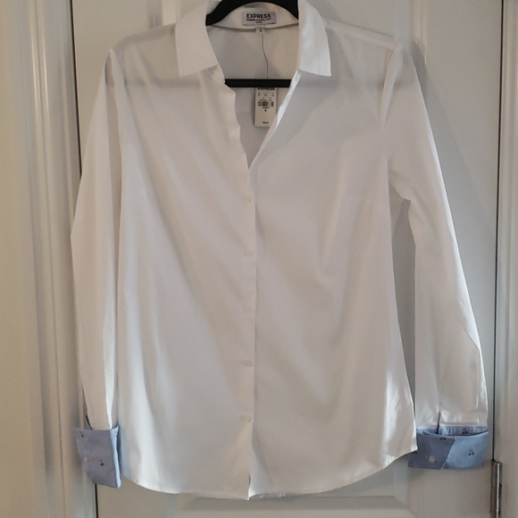 Express womens blouse with cherry detail